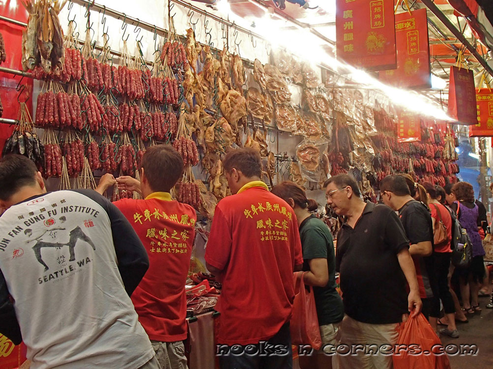 Stall selling cured meat