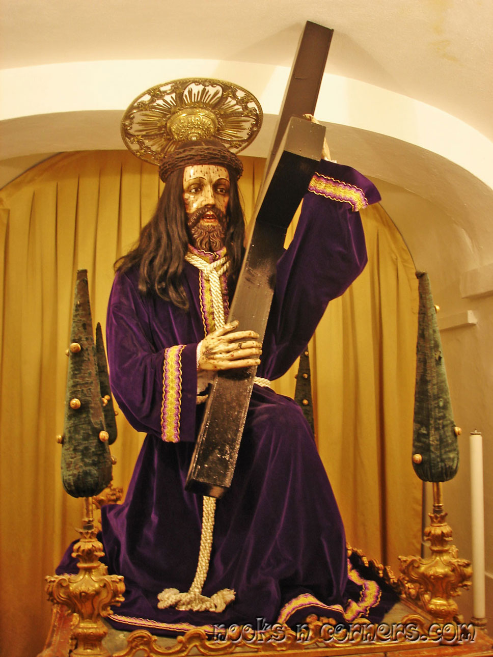 Statue of the Passion of Christ in Church of San Francisco Evora