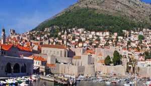 City wall surrounding Dubrovnik