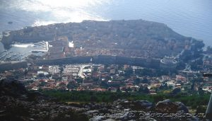 Overall view of Dubrovnik from Mt Srd
