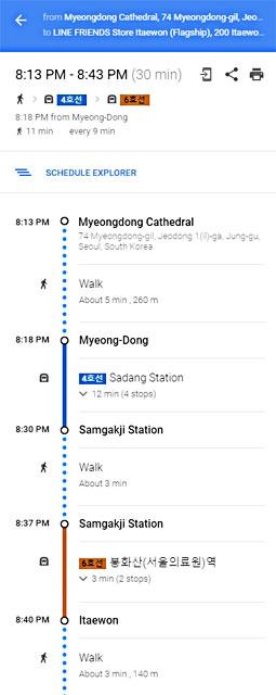 Google Map Detailed Metro Guide Seoul