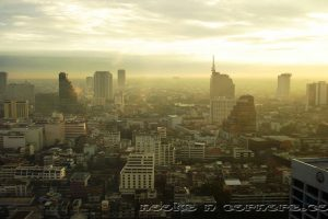 Sunset view of Bangkok